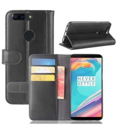 Housse OnePlus 5T Cuir Premium - Noir
