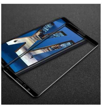 Protection d'écran Verre Trempé Huawei Honor 7X Full Size - Noir