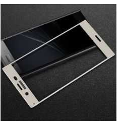 Protection d'écran verre trempé Sony Xperia XZ1 Full Size - Blanc