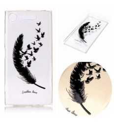 Coque Sony Xperia XZ1 - Plume et oiseaux - Endless Love