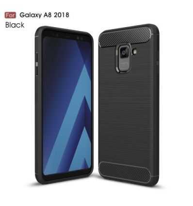 Coque Samsung Galaxy A8 2018 Carbone brossée