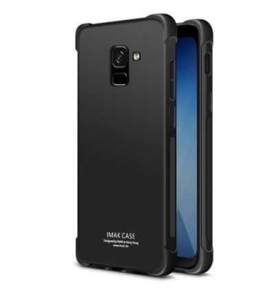 Coque Samsung Galaxy A8 2018 Class Protect - Noir métal
