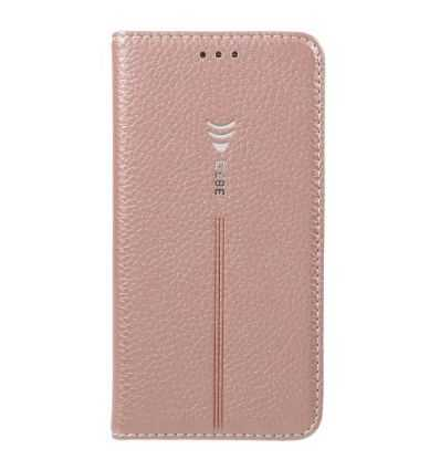 Housse Samsung Galaxy S7 Cuir texture litchi - Or rose