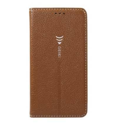 Housse Samsung Galaxy S7 Cuir texture litchi - Marron