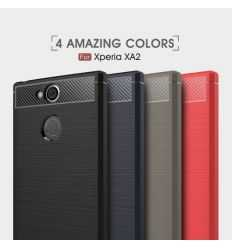 Coque Sony Xperia XA2 Carbone brossée