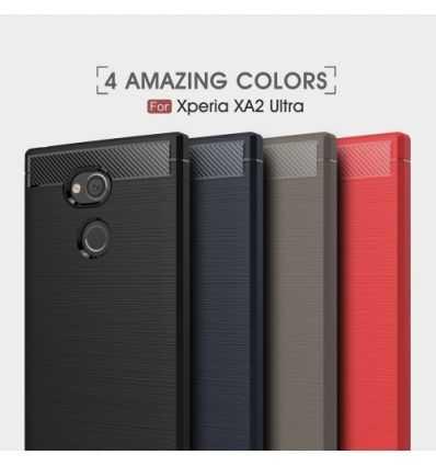 Coque Sony Xperia XA2 Ultra Carbone brossée
