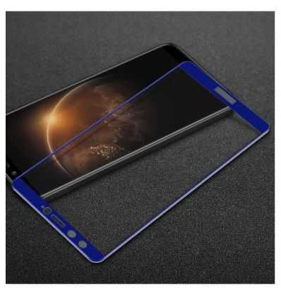 Protection d'écran Verre Trempé Huawei Honor 9 Lite Full Size - Bleu