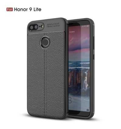 Coque Honor 9 Lite Style cuir texture litchi