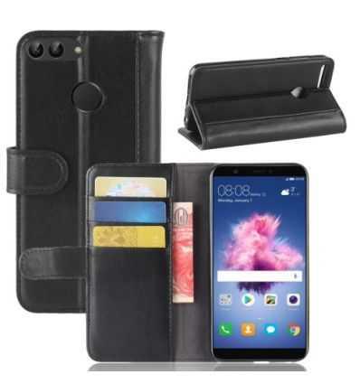 Housse Huawei P Smart Cuir Premium - Noir