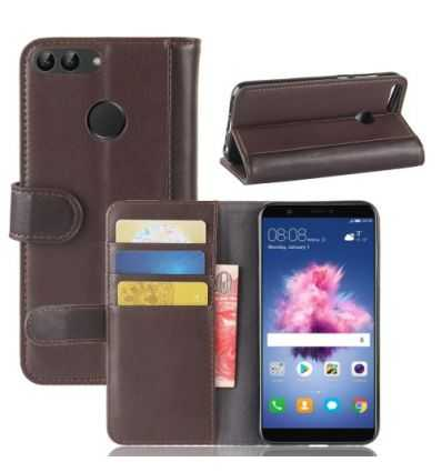 Housse Huawei P Smart Cuir Premium - Marron