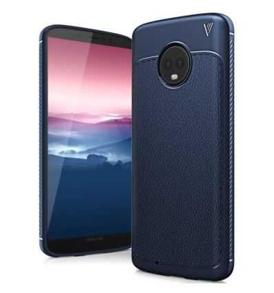 Coque Motorola Moto G6 Gentlemen Series - Bleu marine