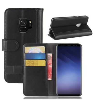 Housse Samsung Galaxy S9 Cuir Premium - Noir
