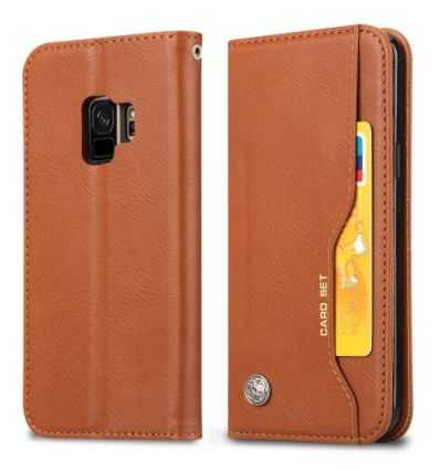 Housse Samsung Galaxy S9 Leather Wallet - Marron