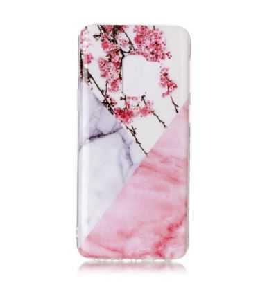 Coque Samsung Galaxy S9 Fleurs et marbre