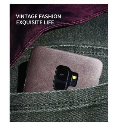 Coque Samsung Galaxy S9 Cuir Vintage Series - Marron clair