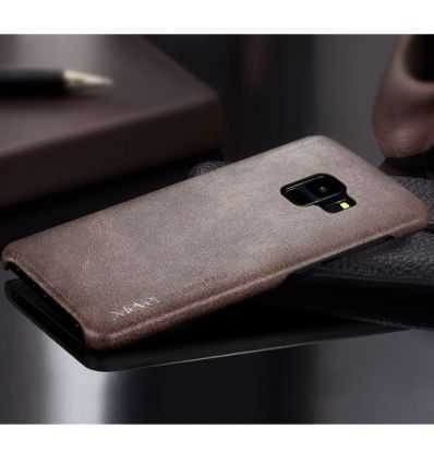 Coque Samsung Galaxy S9 Cuir Vintage Series - Marron