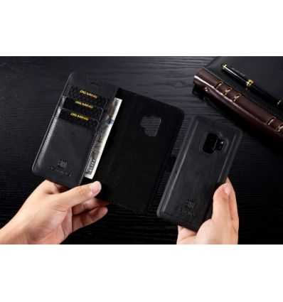Housse portefeuille + coque amovible Samsung Galaxy S9 - Noir