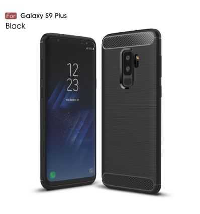 Coque Samsung Galaxy S9 Plus Carbone brossée