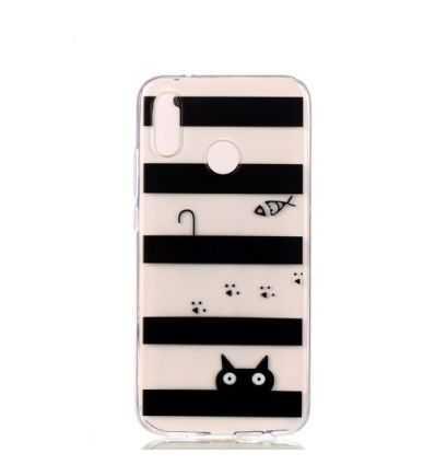 Coque Huawei P20 Lite Transparente - Rayures noires