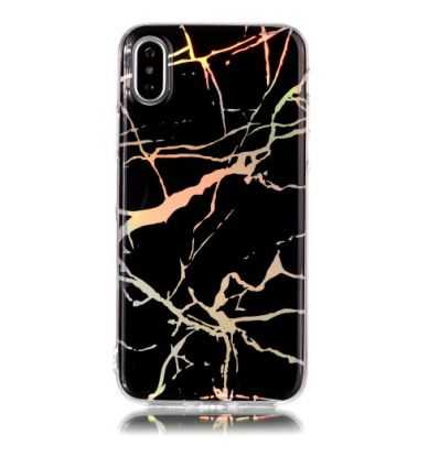 Coque iPhone XS / X Marbre Premium - Noir