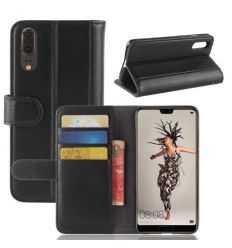 Housse Huawei P20 Cuir Premium - Noir