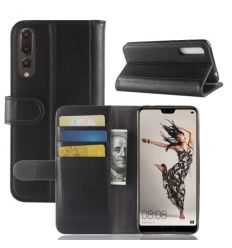Housse Huawei P20 Pro Cuir Premium - Noir