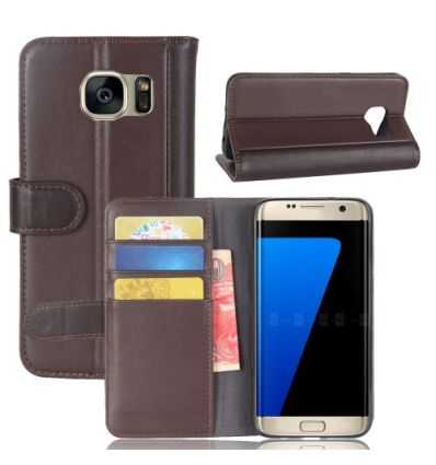 Housse Samsung Galaxy S7 Edge Cuir Premium - Marron