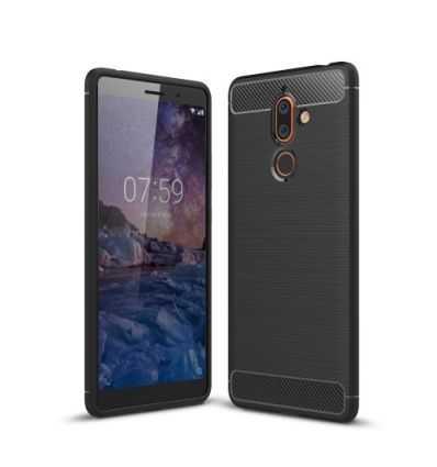 Coque Nokia 7 Plus Carbone Brossée