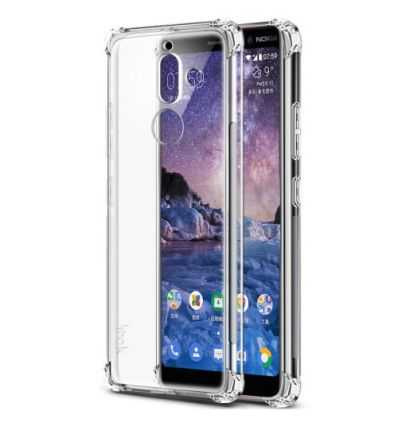 Coque Nokia 7 Plus Class Protect + Protection d'écran - Transparent