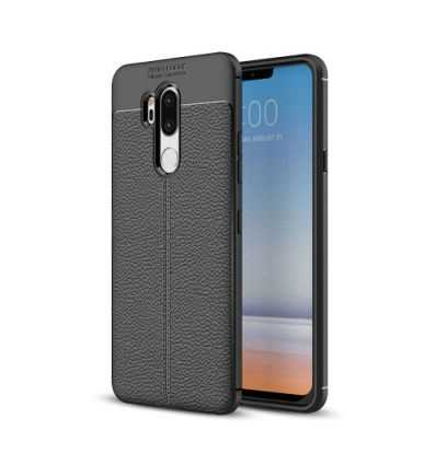 Coque LG G7 ThinQ Style cuir texture litchi