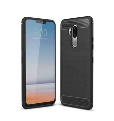 Coque LG G7 ThinQ Carbone brossée