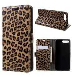 Housse portefeuille Huawei Honor 7A imprimé léopard