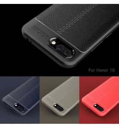 Coque Honor 10 Style cuir texture litchi