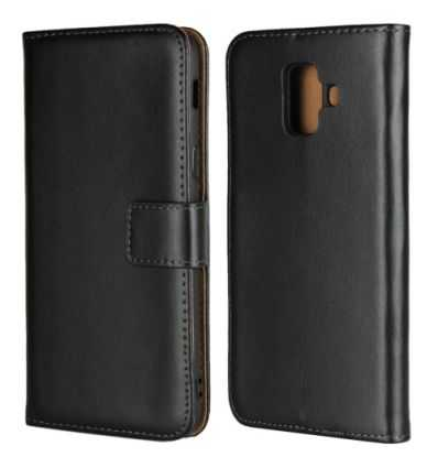 Housse Samsung Galaxy A6 2018 Genuine leather - Noir