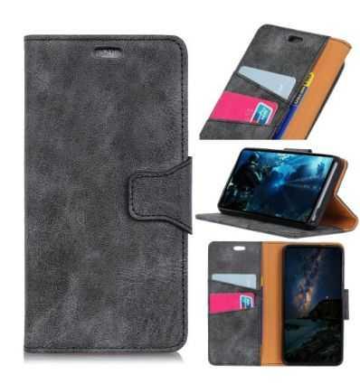Housse Samsung Galaxy A6 Plus portefeuille en simili cuir vintage