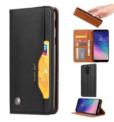Housse Samsung Galaxy A6 Plus Portefeuille cuir stand case