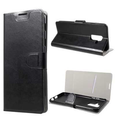Housse Samsung Galaxy A6 Plus Effet cuir avec porte carte