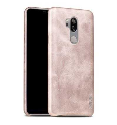 Coque LG G7 ThinQ Cuir Vintage Series - Or