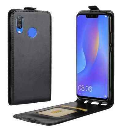 Huawei P Smart Plus - Housse Simili Cuir avec Rabat Verticale